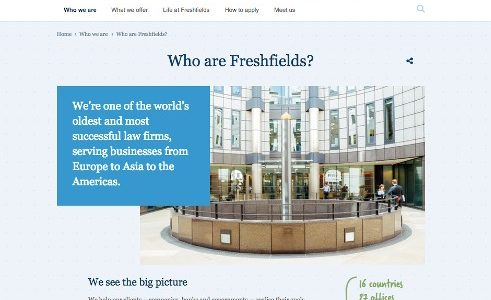 screen grab from Freshfields website