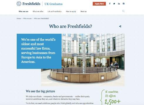 screen grab from Freshfields website