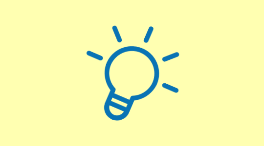 Lightbulb icon to represent ideas and ideation