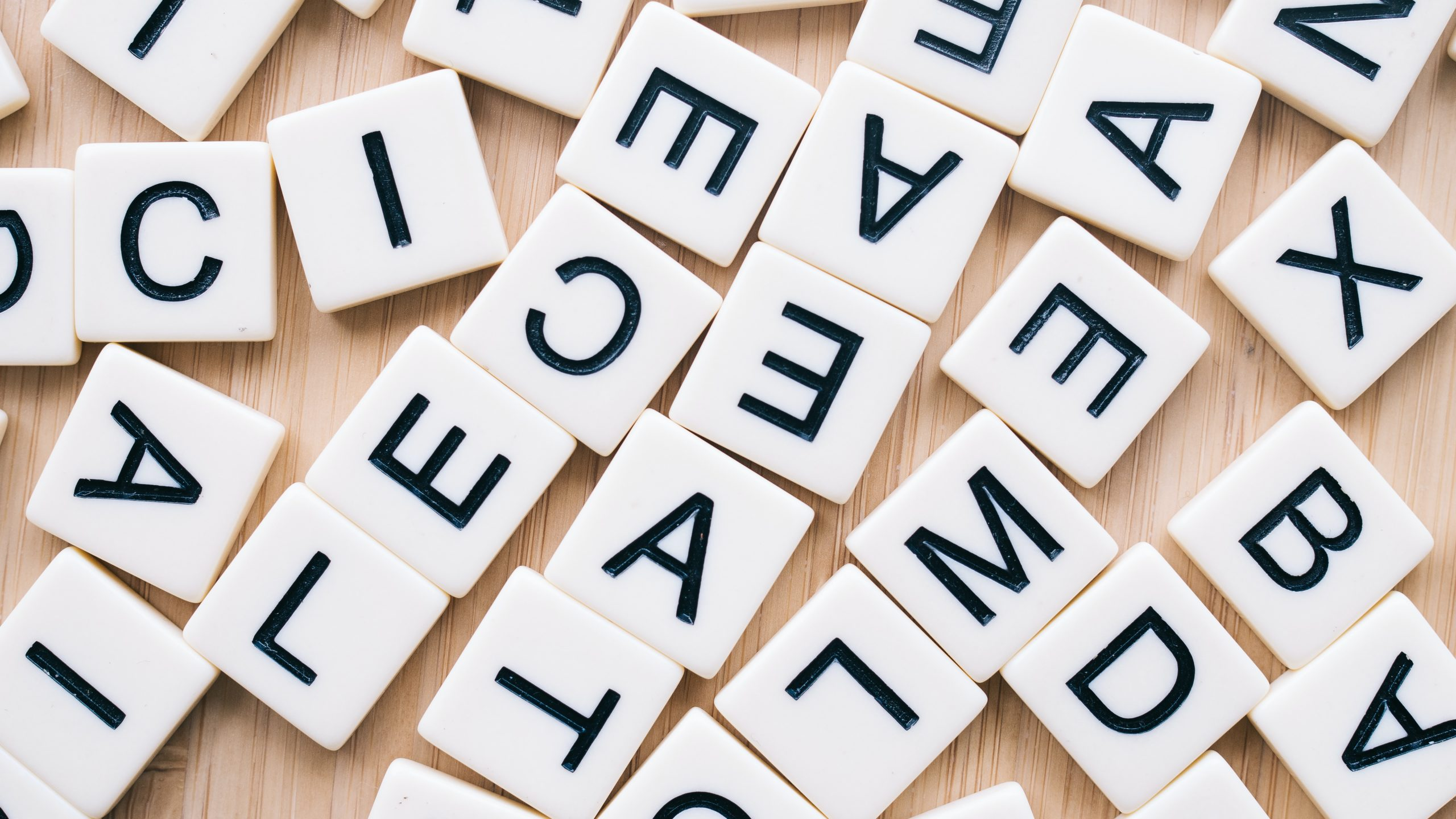 Scattered letters to indicate a need for copy-editing