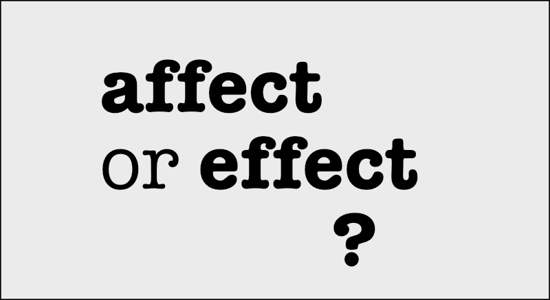 affect or effect?